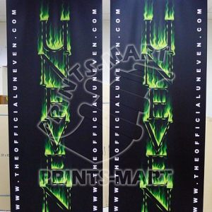 "33"" wide (80x200) Black Roll Up Banner"