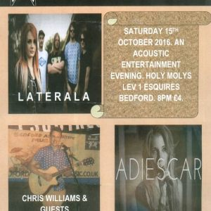 15 Oct 16 Acoustic Evening