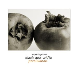 Fruit in black and white