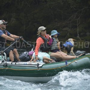 Rafts ,Kayaks and OSU rafts on the upper McKenzie River 8-12-2017