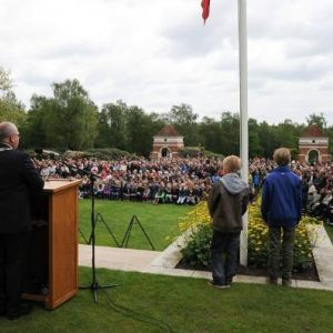 Ceremony Canadian War Cemetery 2014