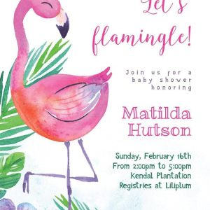 It's A Flamingle - A Baby Shower For Matilda